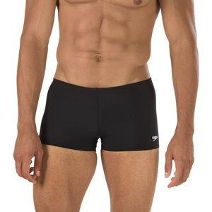 Speedo Endurance Square Leg Bathing Suit-Black